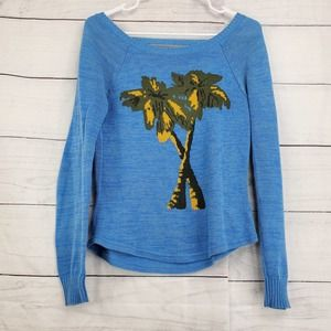 Urban Outfitters Palm Tree Low Back Sweater